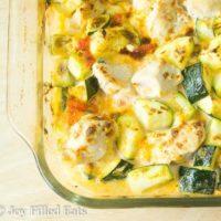 Chicken Zucchini Casserole - Dairy-Free Low Carb Keto THM S