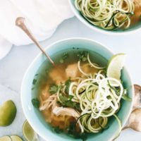 Slow Cooker Paleo Chicken Pho with Zoodles {whole30 + aip}