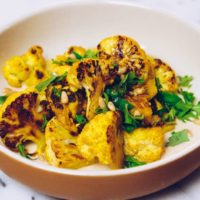Paleo Roasted Cauliflower Recipe with Lemon-Tahini Sauce