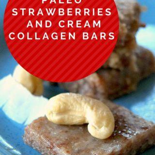 Paleo Strawberries and Cream Collagen Bars