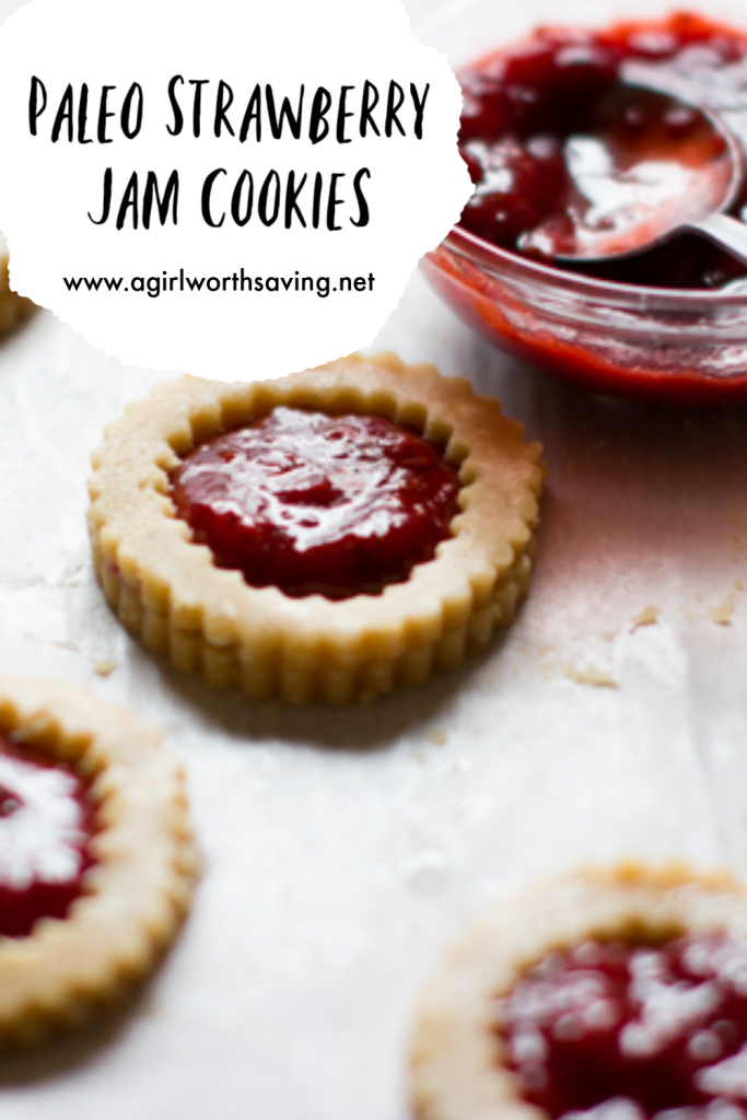 Paleo Strawberry Jam Cookies
