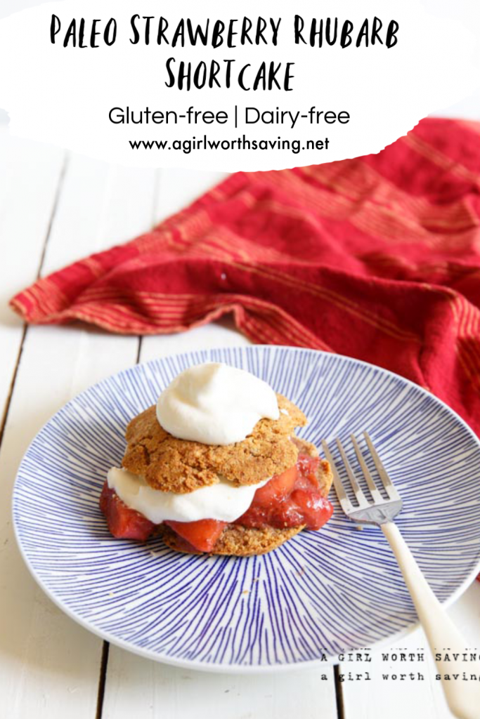 Paleo strawberry rhubarb shortcake