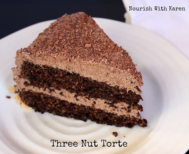 Three Nut Chocolate Torte