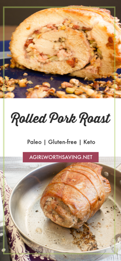 The Keto Rolled Pork Roast stuffed with a savory low carb dressing that will have you reaching for seconds. Marinated and then roasted until golden brown!
