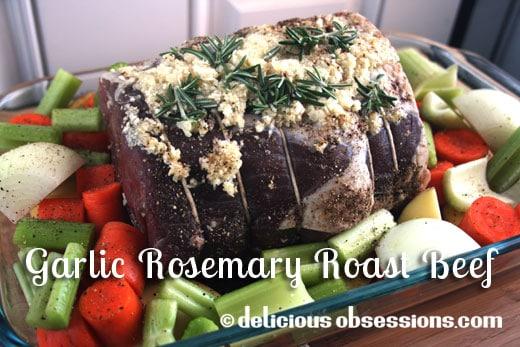 Grass-fed Garlic Rosemary Roast Beef and Veggies Recipe