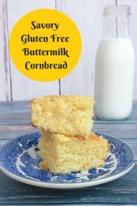Savory Gluten Free Buttermilk Cornbread
