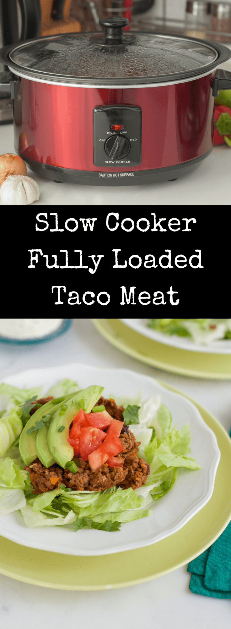 Make taco night a breeze with this tender and flavorful Slow Cooker Taco Meat recipe. Dump ground beef and simple spices in your slow cooker and dinner is done! This will become your families favorite taco!