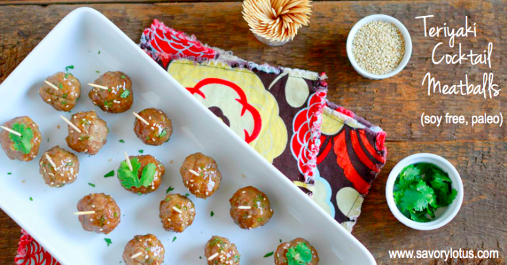Teriyaki Cocktail Meatballs (grain and soy free)