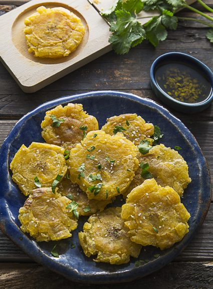 AIP Twice-Fried Green Plantains (Tostones/Patacones)