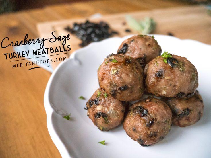 Cranberry-Sage Turkey Meatballs