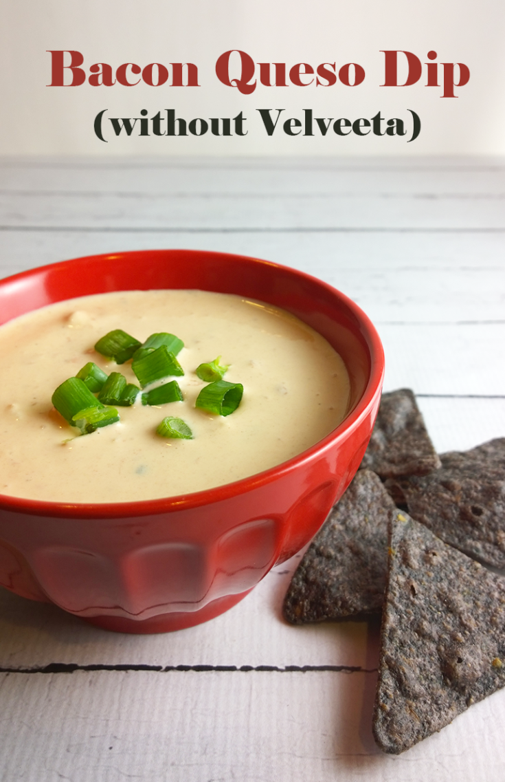 When you're trying to eat real, whole foods, it can make you feel a little left out sometimes. Those MSG-coated Buffalo wings and that Velveeta-ridden chip dip at parties aren't so fun anymore. If you make this bacon queso dip though, you won't be left feeling like a party pooper.