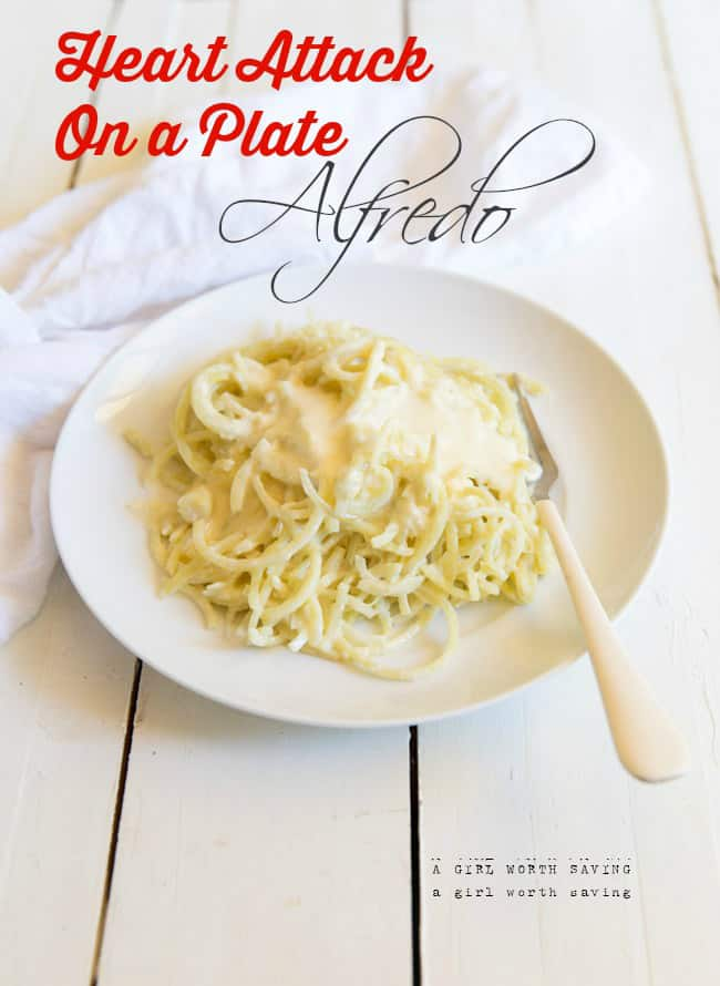 heart attack on a plate alfredo