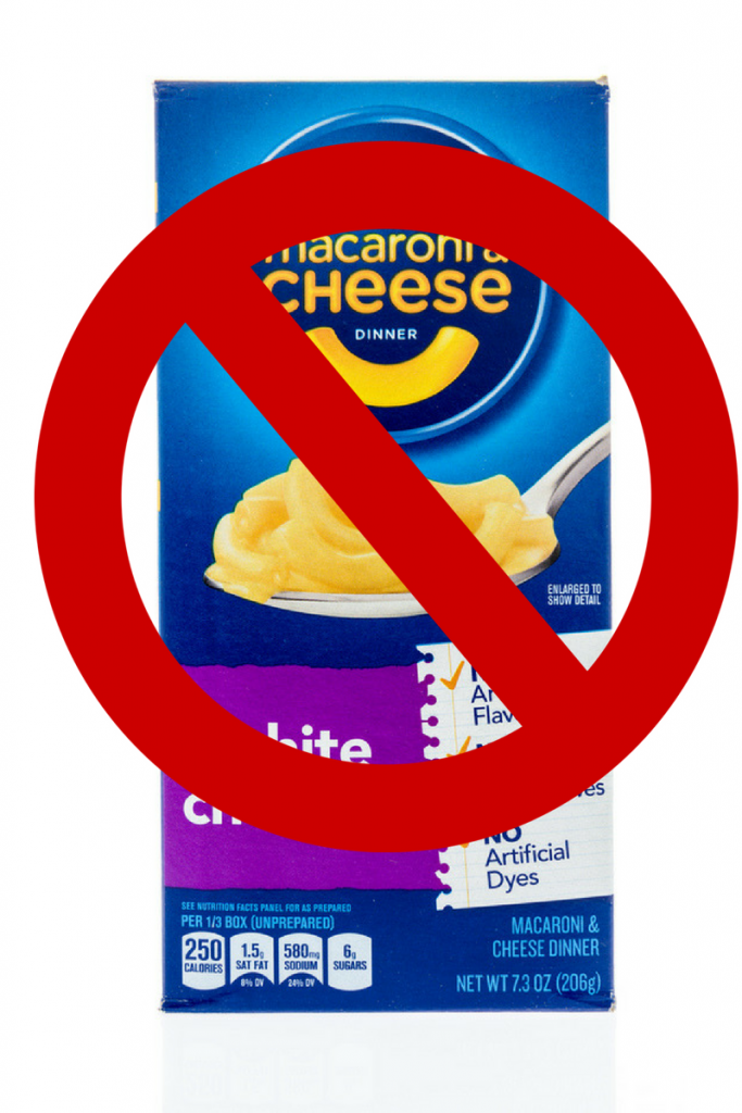 banned in ingredients found in boxed macaroni and cheese