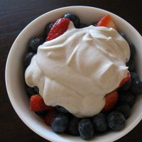 Red, White, Blue, and Green: Berries and (Raw) Whipped Cream