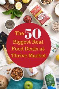 biggest real food deals at thrive market