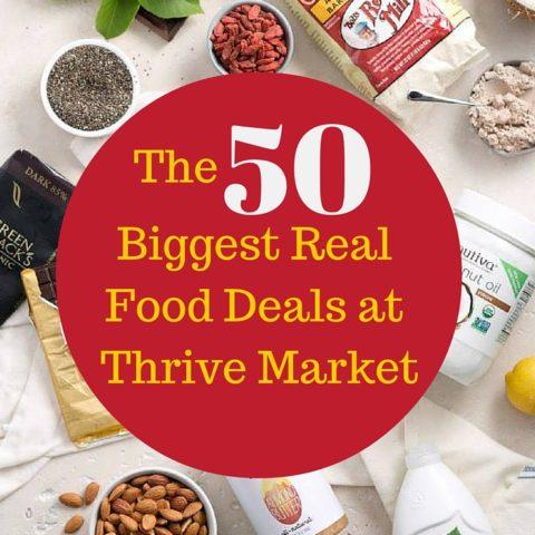 biggest real food deals at thrive market