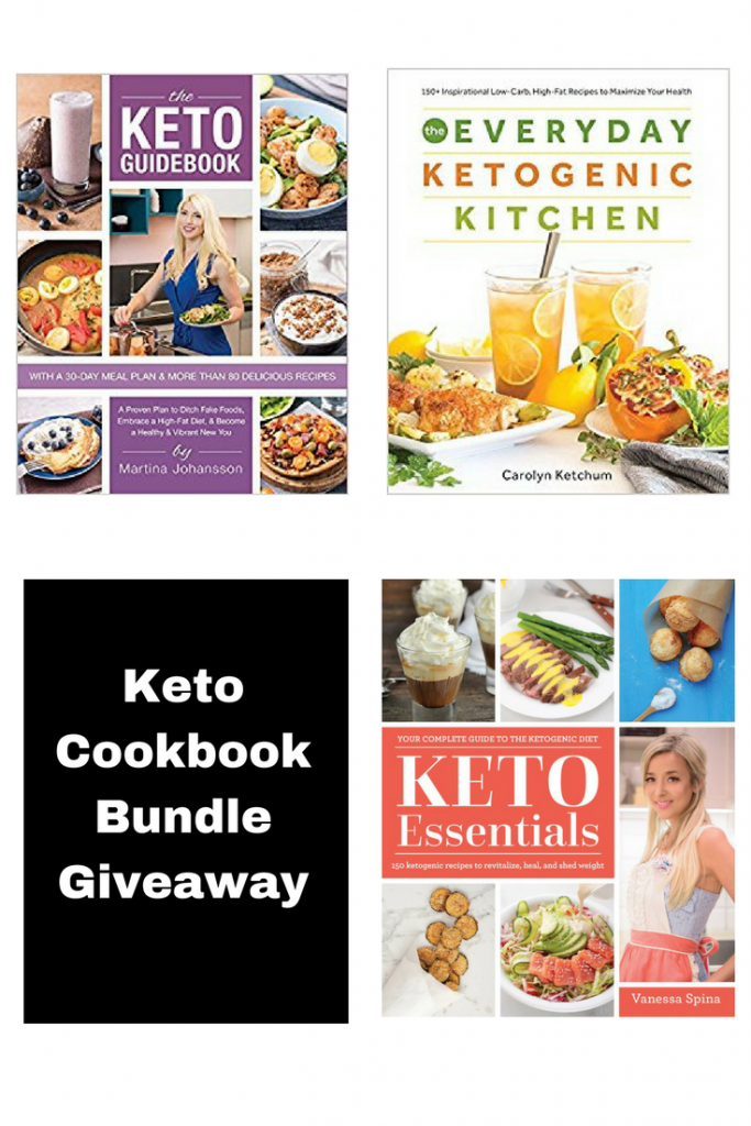 When I decided to fully embrace Keto in September, I knew I need some really good Keto Cookbooks so I reached out to the publisher of my cookbook Paleo Eats and asked them to send me some to giveaway.  I'll be sharing reviews with recipes in January of the following books but I had to get up a giveaway this month since, hello, it's the holidays.
