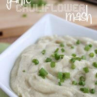 "garlic cauliflower mashed ""potatoes"""