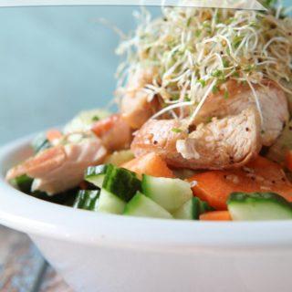 Chicken & Sprout Veggie Salad