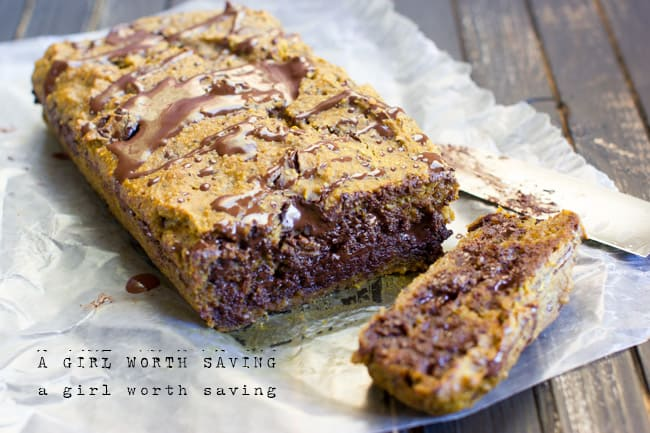 Gooey Paleo Chocolate Chip Pumpkin Bread