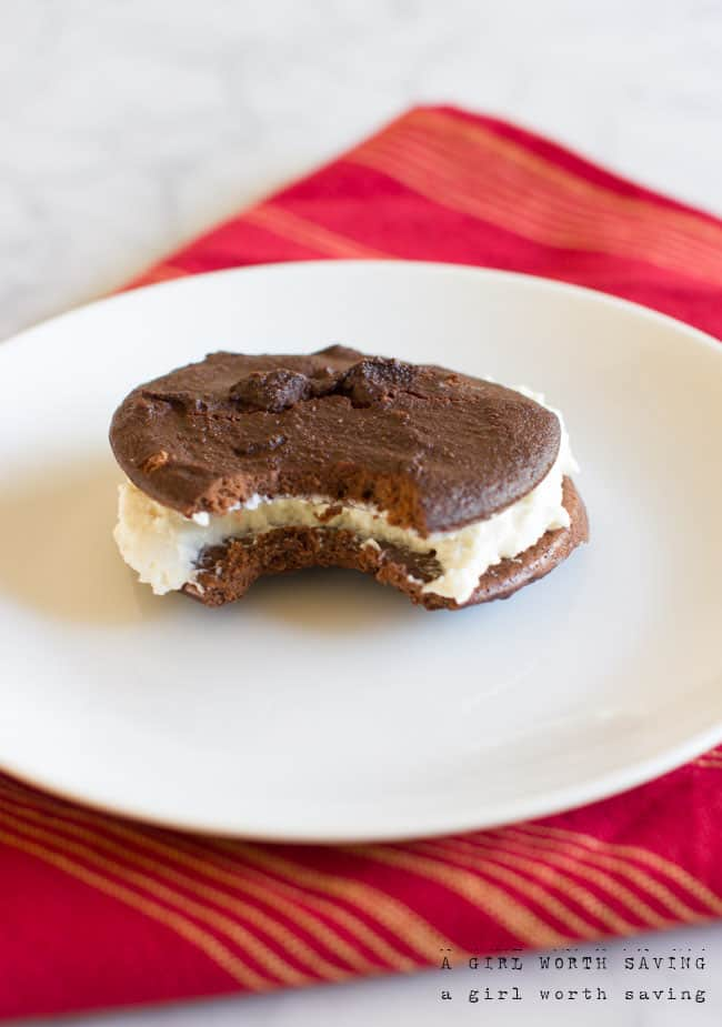 Chocolate Peppermint Whoopee Cookie