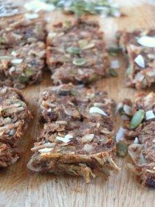 Banana Raisin Paleo Granola Bars