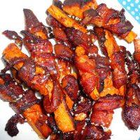 bacon-wrapped cajun sweet potato wedges
