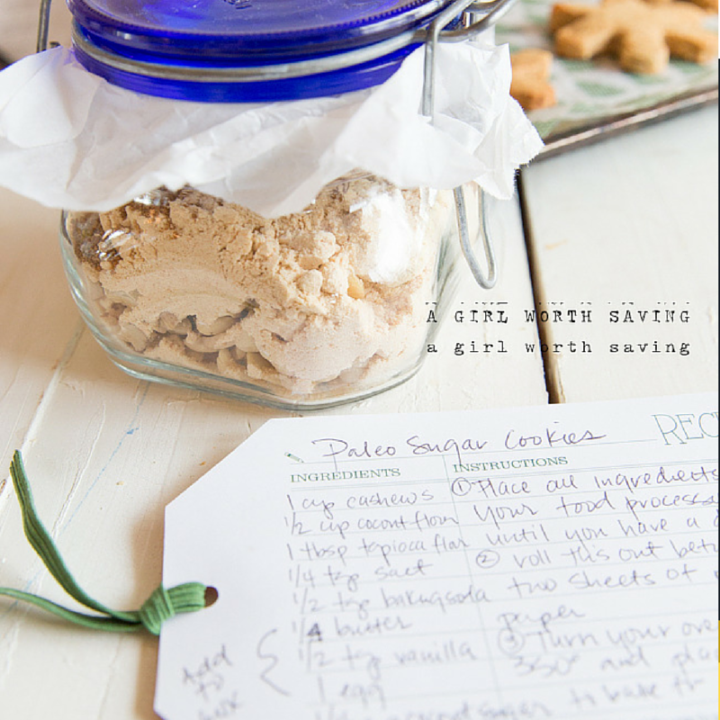 paleo sugar cookies in a jar