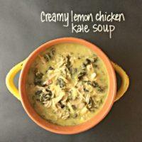 Creamy Crockpot Lemon Chicken Kale Soup | Jessica Flanigan