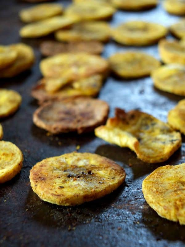 curried plantain chips