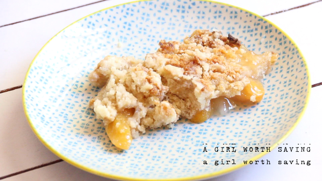This easy gluten-free peach cobbler dump cake is made with only 3 ingredients! Top it with whipped cream or ice cream for a special treat.