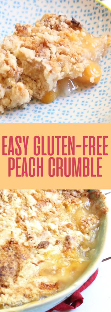 easy gluten free peach crumble cobbler