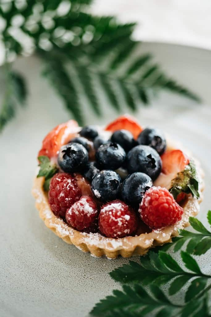 Star-Spangled Coconut Cream Tart (GF, DF, Paleo)