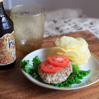 Garlic Pork Burgers