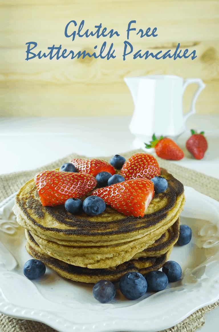 Gluten free buttermilk pancakes - A Girl Worth Saving