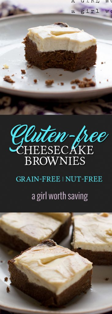 There Gluten free Cheesecake brownies are moere of a cake-like brownie than a chewy brownie but they so good.  I do use real cream cheese in the cheesecake so this is a primal treat. I still am avoiding nuts in my diet since they tend to cause and allergic reaction.