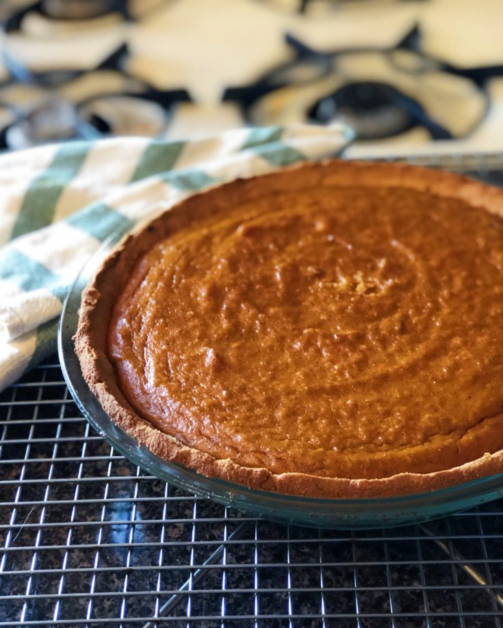 Low Carb Sweet Potato Pumpkin Pie (Gluten-free)