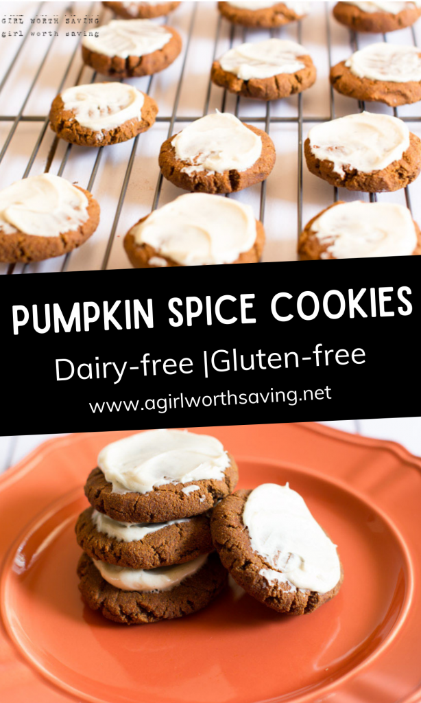 These soft, frosted gluten-free pumpkin spice cookies will wow your tastebuds. Filled with pumpkin, cinnamon, allspice, and molasses, you'll love every bite.