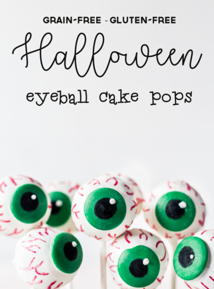 Grain-free Gluten-free Halloween Eyeball Cake Pops