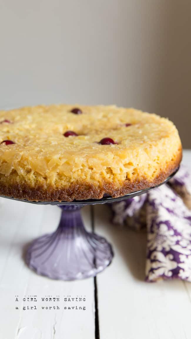 Grain free Pineapple Upside Down Cake
