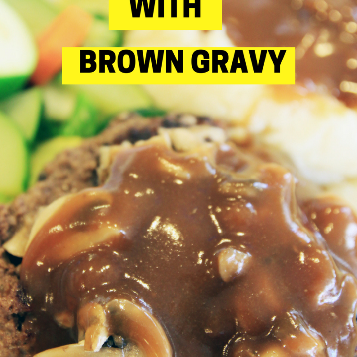 Hamburger Steak with Brown Gravy