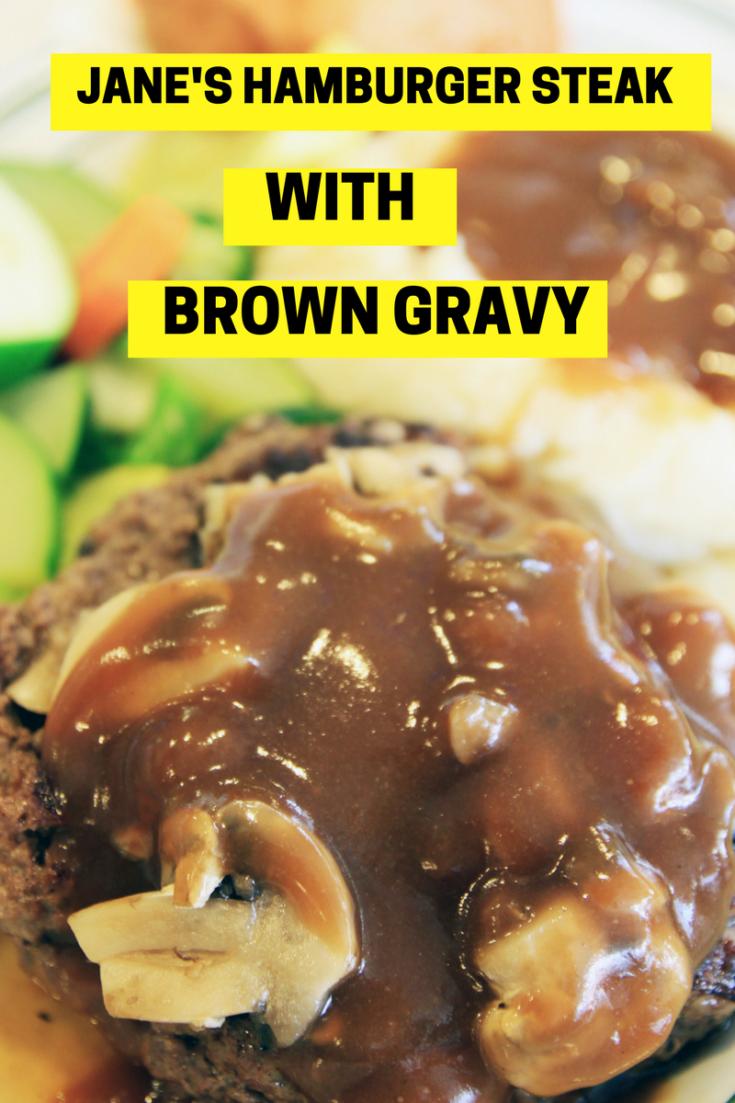 Hamburger Steak with Brown Gravy