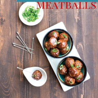 honey chipotle meatballs