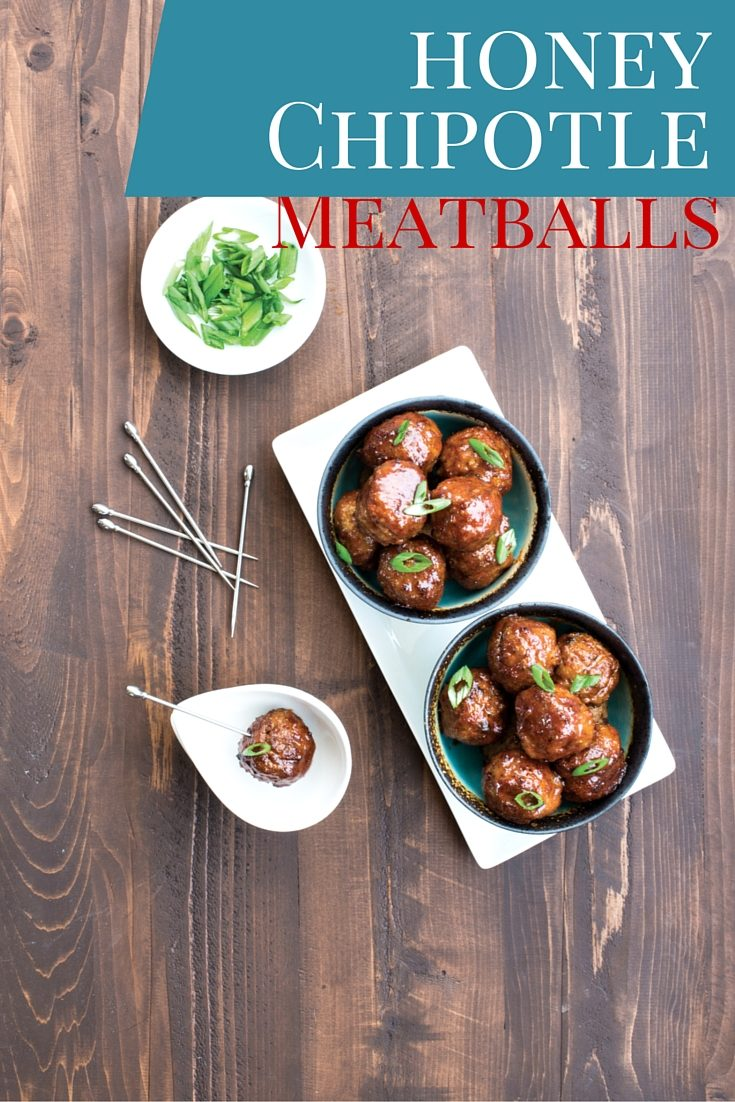 Honey Chipotle Meatballs from The Paleo Cupboard cookbook