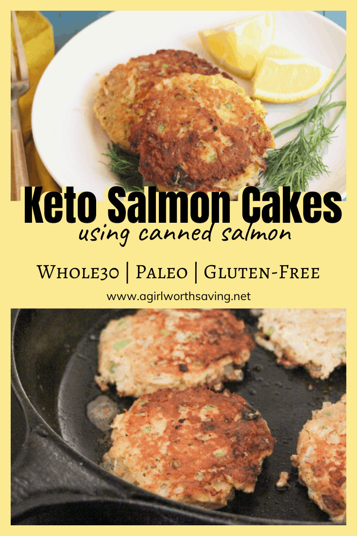 Made with canned salmon, coconut flour, lemon pepper and dill, this Keto Salmon cakes recipe is hit! Spritz with lemon or top with your favorite tartar sauce and enjoy!