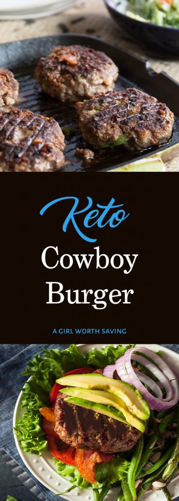 No one will be able to resist this burger combination of ground beef, cheddar cheese, bacon, and spicy jalapeno! It's one tasty (and simple) cowboy burger recipe that everyone will love.