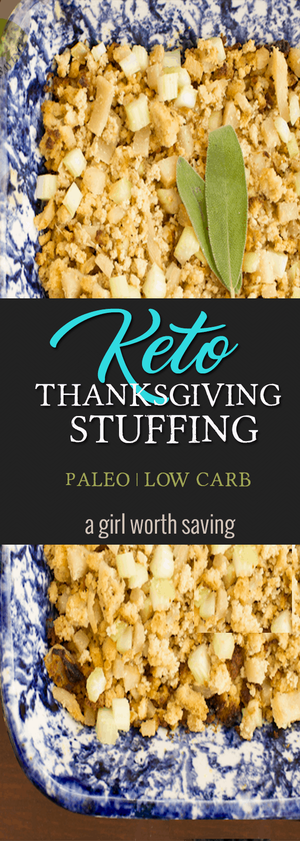 The quintessential Thanksgiving side dish is stuffing. Seriously, nothing soaks up gravy or cranberry-like dressing and this Keto Thanksgiving Stuffing will wow your tastebuds.