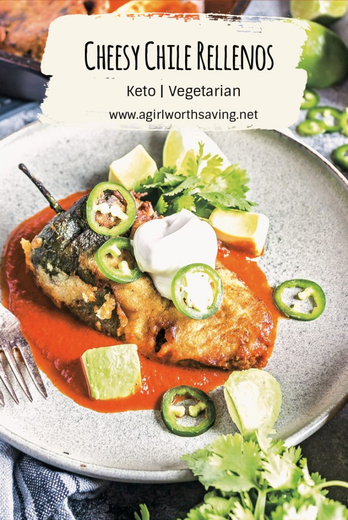 I love everything about these Keto Vegetarian Cheesy Chile Rellenos—the gooey, cheesy center encrusted within the charred pepper make every bite a fiesta-worthy moment.