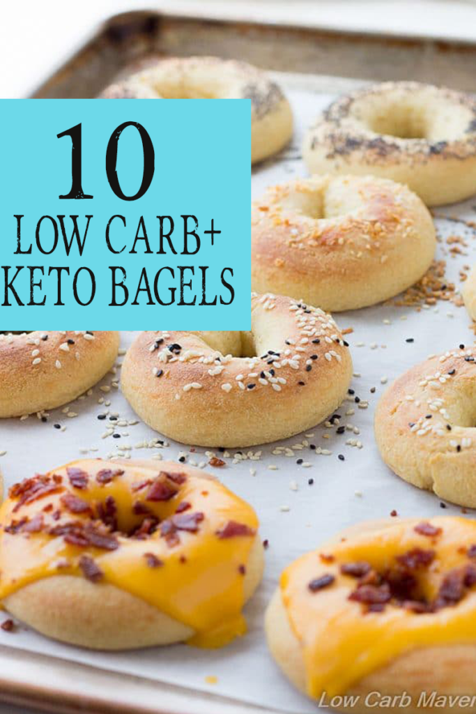 Looking for the best low carb bagels? Make one of these 10 low carb bagels that are made with coconut flour or fathead dough.