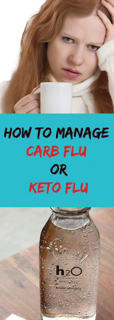 Carb flu, also known as keto flu, is a set of symptoms that a person experiences when they drastically reduce carbohydrates in their diet. The symptoms are headaches, sugar cravings, dizziness, fatigue, brain fog, nausea, difficulty falling asleep, irritability, muscle cramps, skin problems, constipation and stomach irritability. Carb flu is the body's reaction to lack of carbohydrates, its usual source of energy.  Not everyone suffers from carb flu but those who get it feel really crappy. It can last up to a week but for some people it can last even up to 5 weeks.  So if you have started on a ketogenic diet (or a Paleo or other low carbohydrate diet) and you have these flu-like symptoms, there are ways to manage those symptoms.